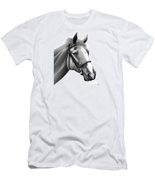 Men's T-Shirt (Slim Fit) featuring the painting Horse by Rand Herron