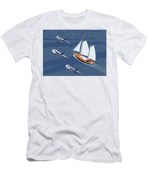 In The Company Of Whales Men's T-Shirt (Athletic Fit)