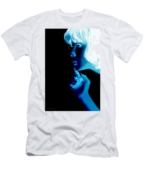Inverted Realities - Blue  Men's T-Shirt (Slim Fit) by Serge Averbukh