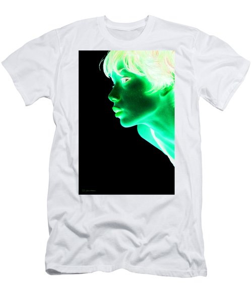Inverted Realities - Green  Men's T-Shirt (Slim Fit) by Serge Averbukh