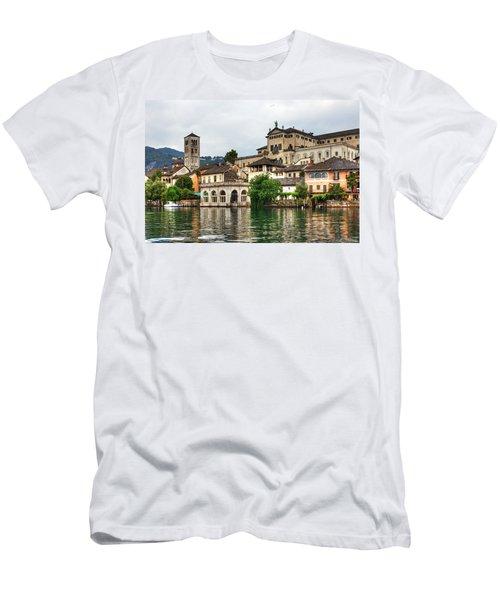 Island Of San Giulio On Lake Orta Men's T-Shirt (Athletic Fit)