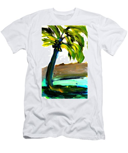 Men's T-Shirt (Slim Fit) featuring the painting Island Time by Fred Wilson