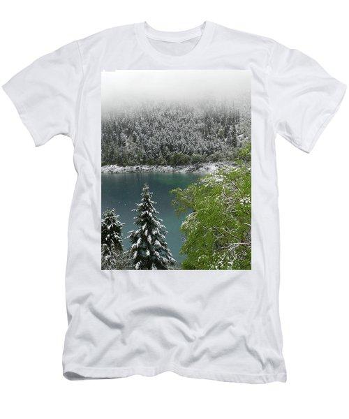 Jiuzhaigou National Park, China Men's T-Shirt (Athletic Fit)