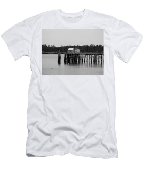Jonesport, Maine Men's T-Shirt (Slim Fit) by Trace Kittrell