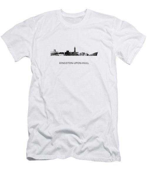 Kingston Upon Hull England Skyline Men's T-Shirt (Athletic Fit)