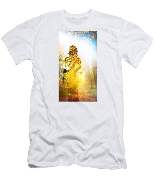 Lady Autumn Men's T-Shirt (Slim Fit) by Lilia D