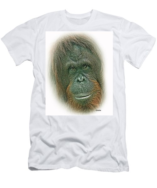 Men's T-Shirt (Athletic Fit) featuring the digital art Lady Of The Forest by Larry Linton