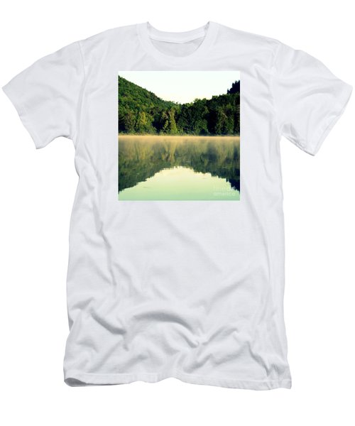 Men's T-Shirt (Slim Fit) featuring the photograph Lake by France Laliberte