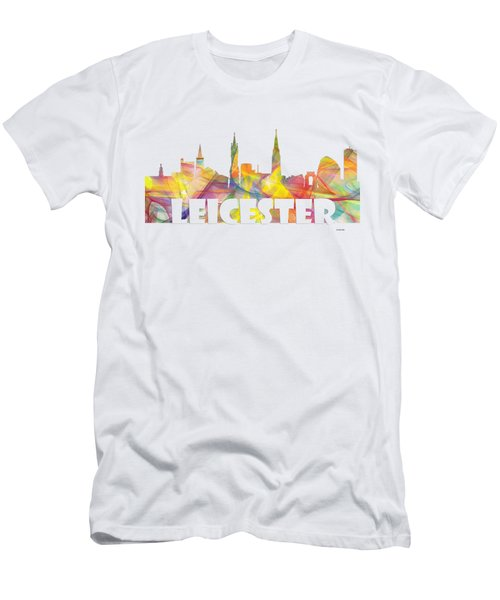 Leicester England Skyline Men's T-Shirt (Athletic Fit)