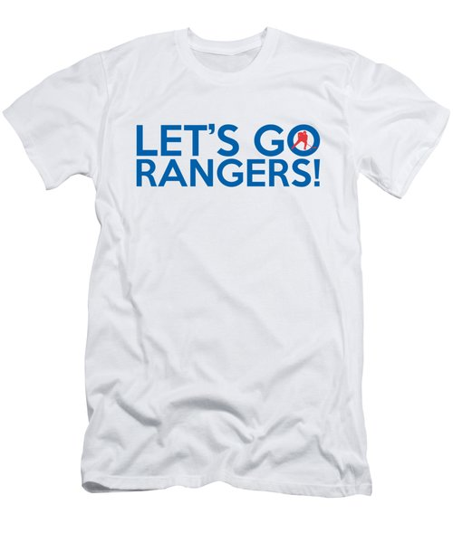 Let's Go Rangers Men's T-Shirt (Slim Fit) by Florian Rodarte