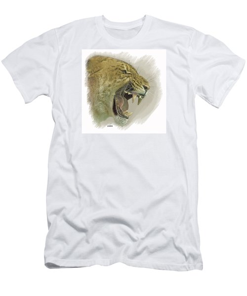 Men's T-Shirt (Athletic Fit) featuring the digital art Liger by Larry Linton