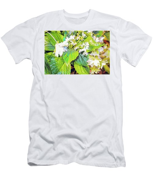 Men's T-Shirt (Slim Fit) featuring the photograph Little Orchids by Mindy Newman
