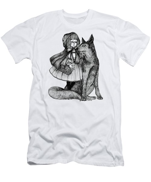 Little Red Riding Hood Men's T-Shirt (Slim Fit) by Akiko Okabe