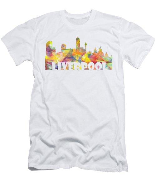 Liverpool England Skyline Men's T-Shirt (Athletic Fit)