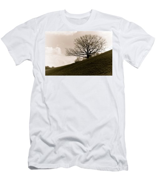 Lonely Tree Men's T-Shirt (Slim Fit) by Sergey Simanovsky