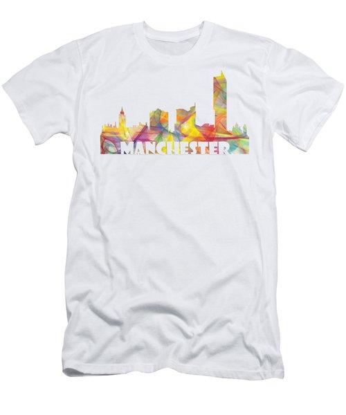 Manchester England Skyline Men's T-Shirt (Athletic Fit)