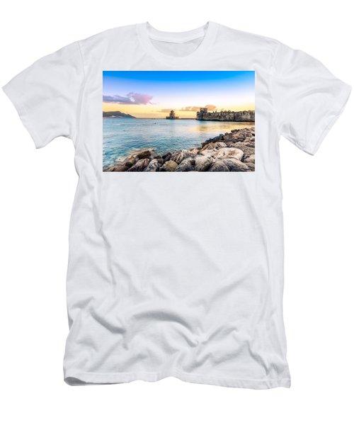 Methoni's Castle / Greece. Men's T-Shirt (Slim Fit) by Stavros Argyropoulos