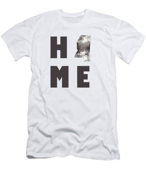 Men's T-Shirt (Slim Fit) featuring the digital art Minnesota State Map by Marlene Watson
