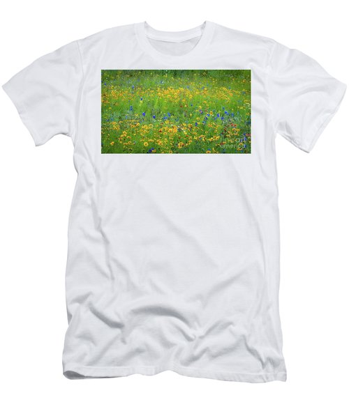 Mixed Wildflowers In Texas 538 Men's T-Shirt (Athletic Fit)