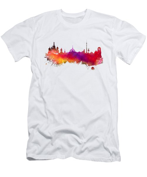 Moscow Skyline Men's T-Shirt (Athletic Fit)