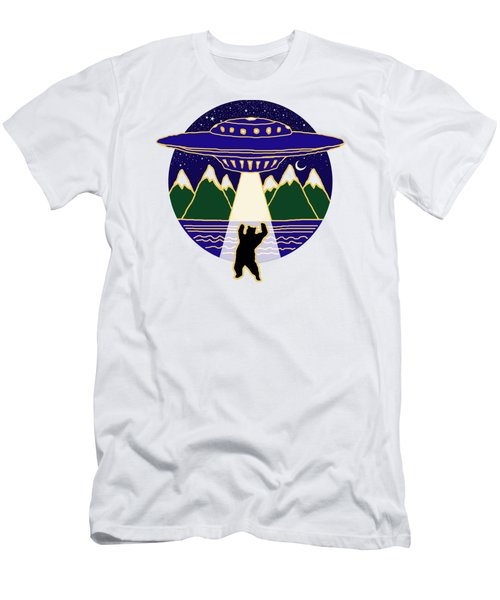 Mothership Takes Bear Men's T-Shirt (Slim Fit) by Holly Douglas