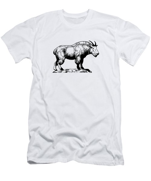 Mountain Goat Men's T-Shirt (Slim Fit) by Mordax Furittus