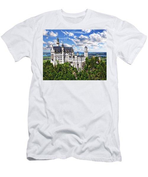 Men's T-Shirt (Athletic Fit) featuring the photograph Neuschwanstein Castle by Anthony Dezenzio