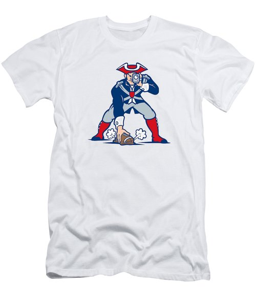 New England Patriots Parody Men's T-Shirt (Slim Fit) by Joe Hamilton