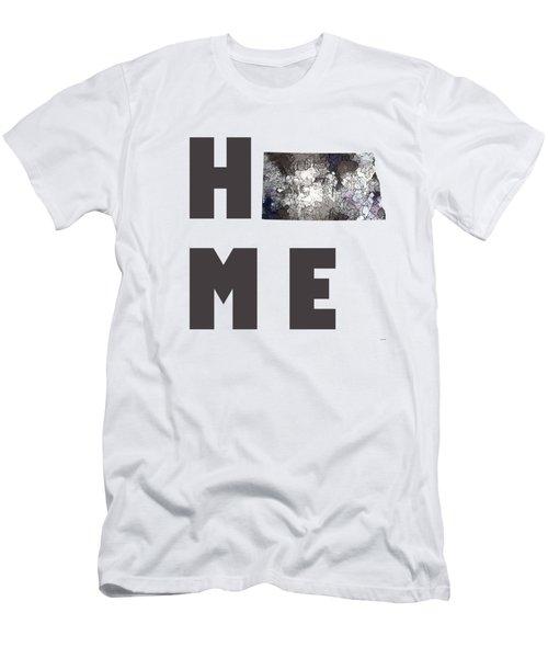Men's T-Shirt (Slim Fit) featuring the digital art North Dakota State Map by Marlene Watson