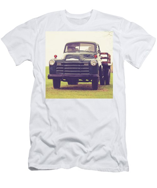 Old Chevy Farm Truck In Vermont Square Men's T-Shirt (Athletic Fit)