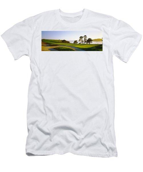 Pebble Beach Golf Course, Pebble Beach Men's T-Shirt (Athletic Fit)