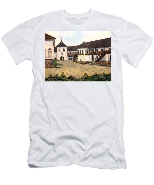 Polovragi Monastery - Romania Men's T-Shirt (Athletic Fit)