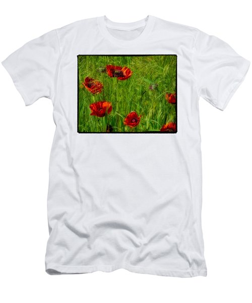 Poppies Men's T-Shirt (Slim Fit) by Hugh Smith