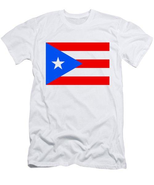 Puerto Rico Flag Men's T-Shirt (Athletic Fit)