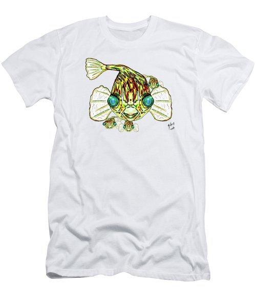 Puffer Fish Men's T-Shirt (Slim Fit) by W Gilroy