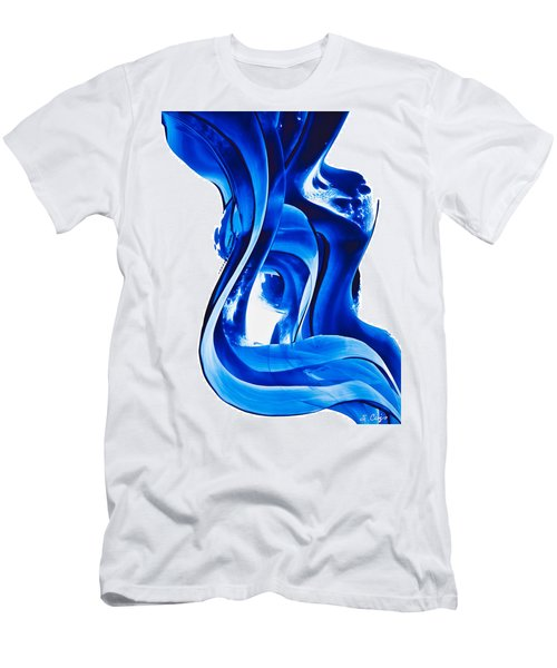 Men's T-Shirt (Athletic Fit) featuring the painting Pure Water 66 by Sharon Cummings