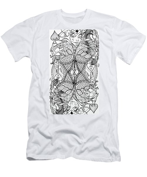 Queen Of Spades 2 Men's T-Shirt (Slim Fit) by Jani Freimann