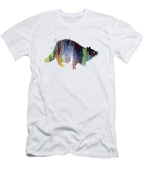 Raccoon Men's T-Shirt (Athletic Fit)