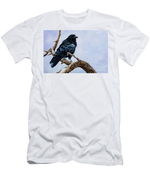 Men's T-Shirt (Slim Fit) featuring the painting Raven by Igor Postash