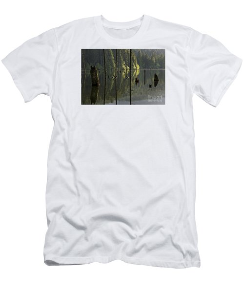 Men's T-Shirt (Slim Fit) featuring the photograph Reflections by Inge Riis McDonald