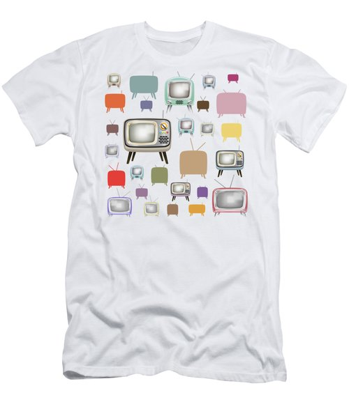 Retro T.v. Men's T-Shirt (Athletic Fit)