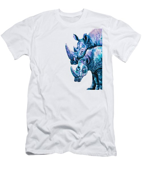 Rhinoceros Couple Men's T-Shirt (Athletic Fit)