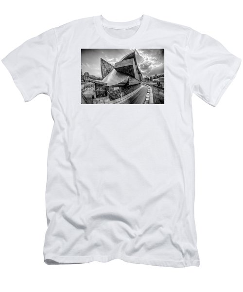Roanoke Virginia City Skyline In The Mountain Valley Of Appalach Men's T-Shirt (Slim Fit) by Alex Grichenko
