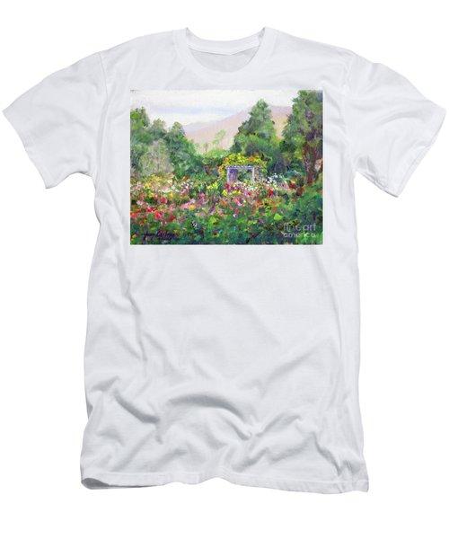 Rose Garden In Bloom Men's T-Shirt (Athletic Fit)