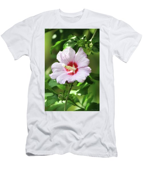 Men's T-Shirt (Athletic Fit) featuring the photograph  Rose Of Sharon by Trina Ansel