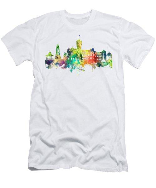 Rutherglen Scotland Skyline Men's T-Shirt (Slim Fit) by Marlene Watson