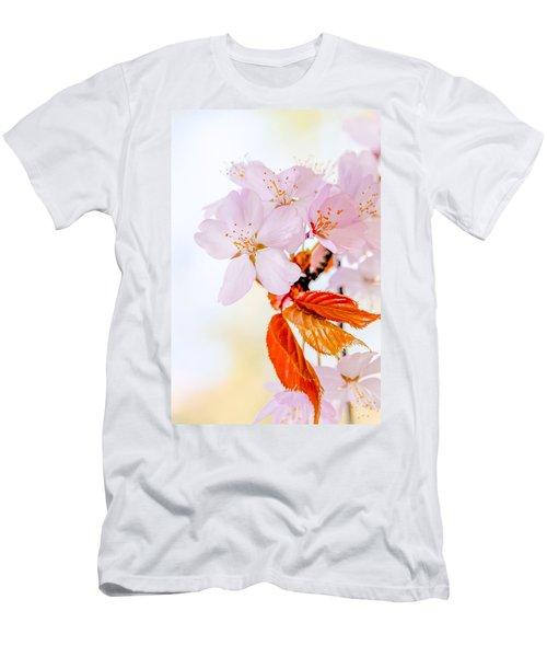Men's T-Shirt (Slim Fit) featuring the photograph Sakura - Japanese Cherry Blossom by Alexander Senin