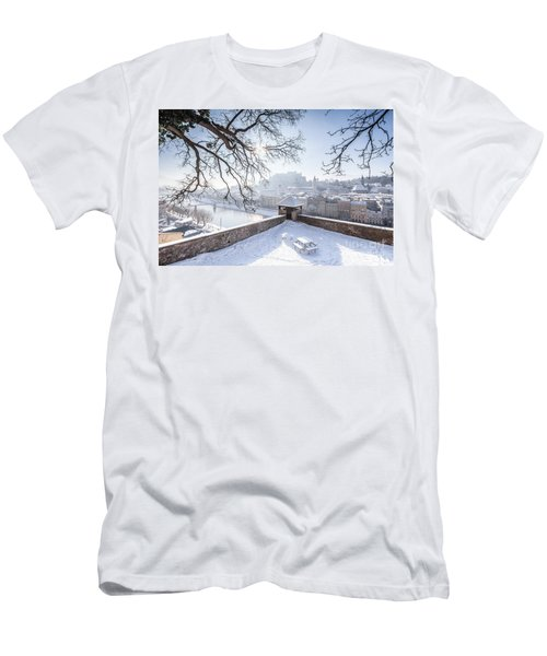 Salzburg Winter Dreams Men's T-Shirt (Slim Fit) by JR Photography