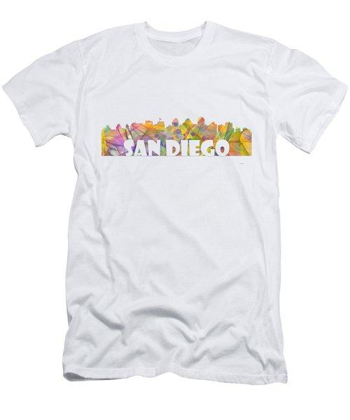 San Diego California Skyline Men's T-Shirt (Athletic Fit)