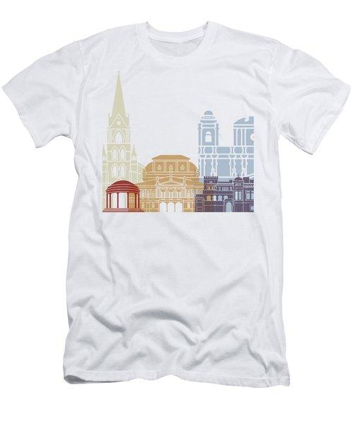 San Jose Skyline Poster Men's T-Shirt (Athletic Fit)